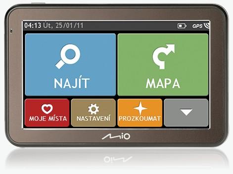 "MIO Spirit 7100 GPS navigace, LCD 5"", mapy CZ/SK Lifetime"