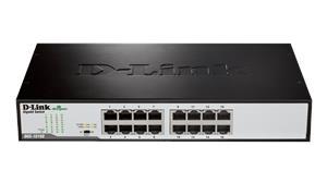D-Link DGS-1016D/E 16-Port 10/100/1000Mbps Copper Gigabit Ether. Switch