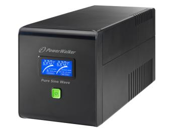 Power Walker UPS Line-Interactive 1000VA 4x IEC C13,PURE SINE, RJ11/RJ45,USB,LCD