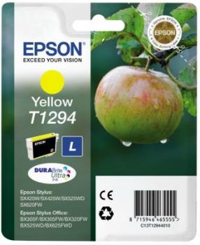 Inkoust Epson T1294 yellow | Stylus SX425W/SX525WD/BX305F/BX320FW/BX625FWD