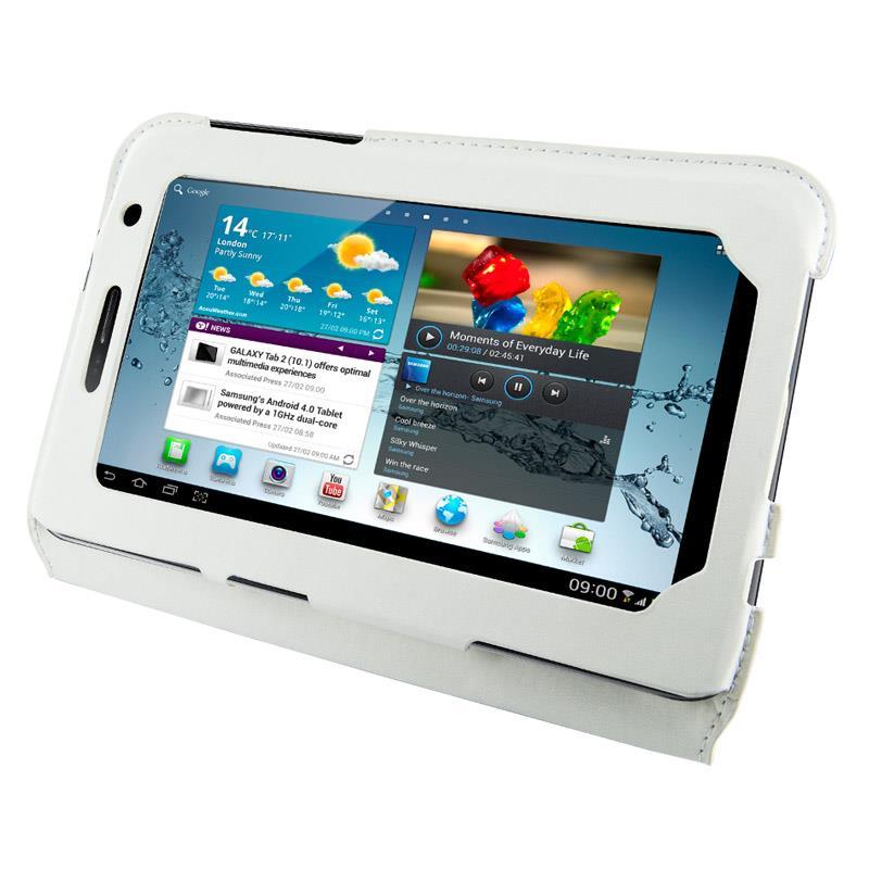 4World Pouzdro - stojan pro Galaxy Tab 2, Ultra Slim, 7'', bílý