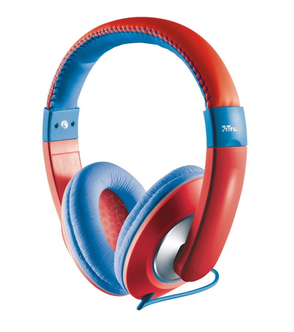 náhlavní sada TRUST Sonin Kids Headphone, red