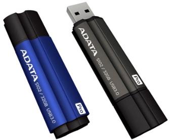 ADATA memory S102 PRO 32GB USB 3.0 Titanium Blue (Write/Read 25/90MB/s )
