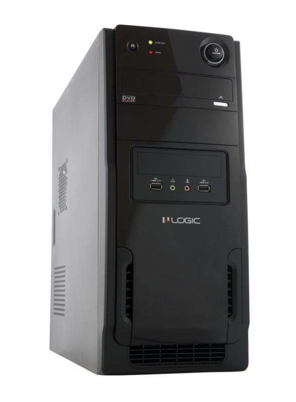 LOGIC PC skříň A11 Midi Tower, zdroj LOGIC 400W ATX PFC, USB 3.0