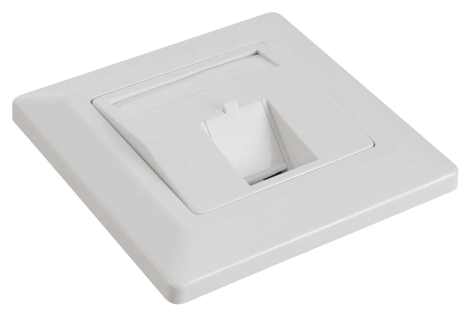 Solarix Zásuvka modulární pro 1 keystone pod omítku bílá