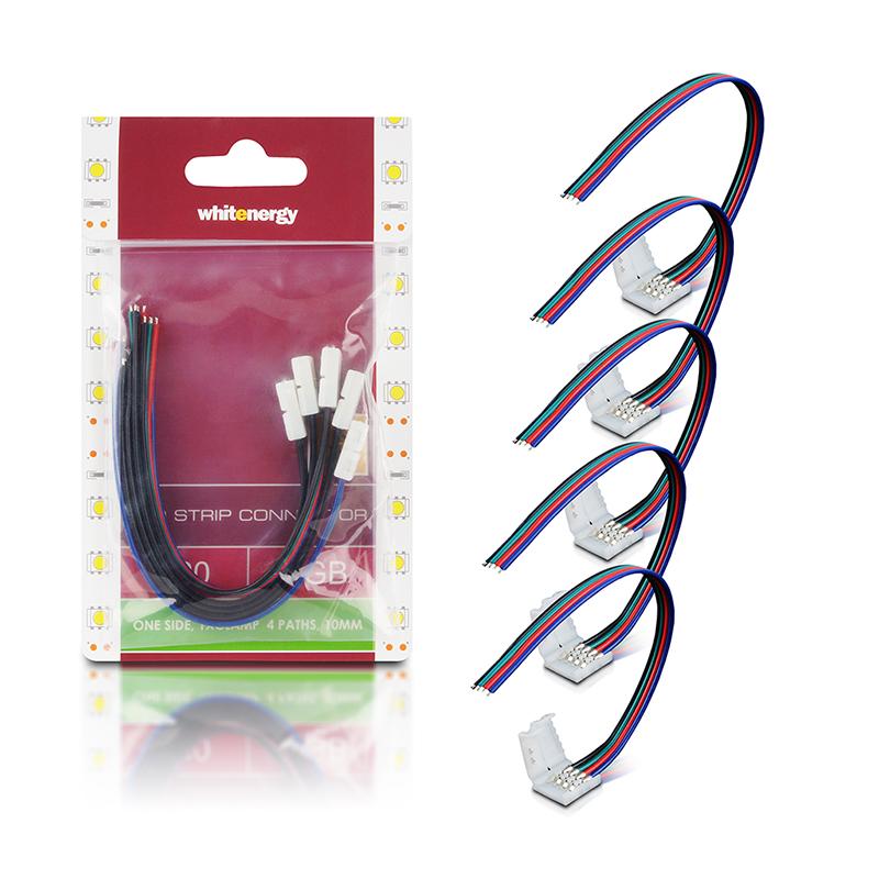 WE Spojka RGB LED pásku kabelová 15cm 1x10mm/4 5ks