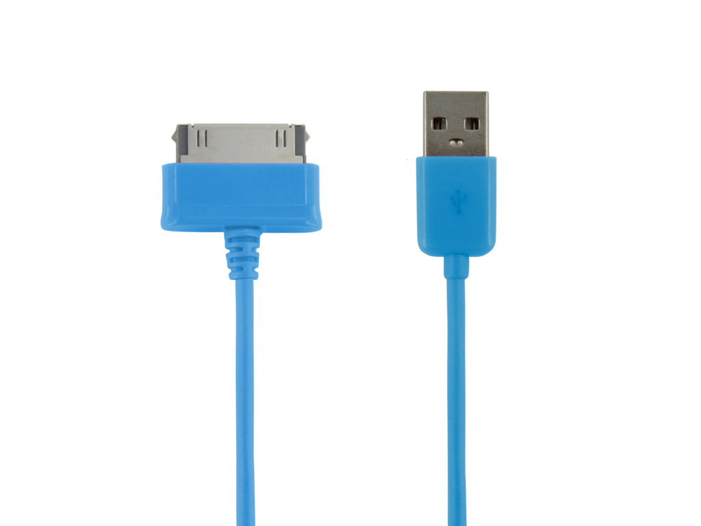 4World Datový kabel Galaxy Tab 1.0m Blue