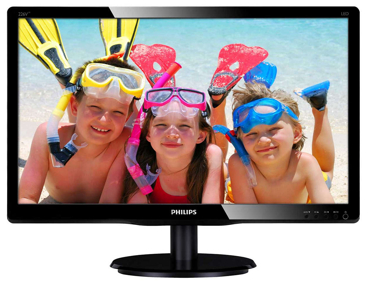 """Philips LCD 226V4LAB 21,5""""wide/1920x1080/5ms/10mil:1/DVI/LED/repro"""