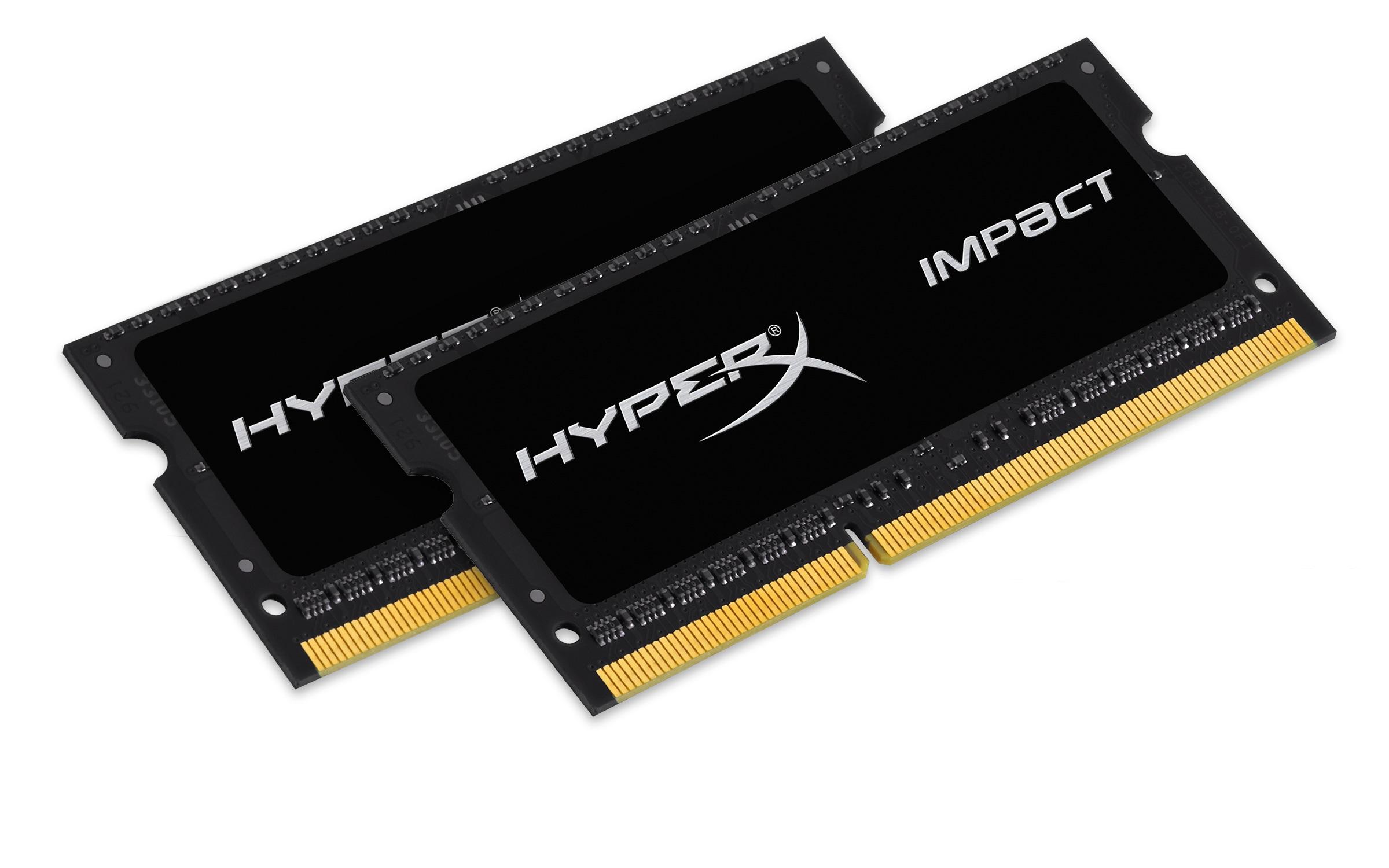 HyperX Impact 4GB 1866MHz DDR3L CL11 SODIMM 1.35V, černý chladič