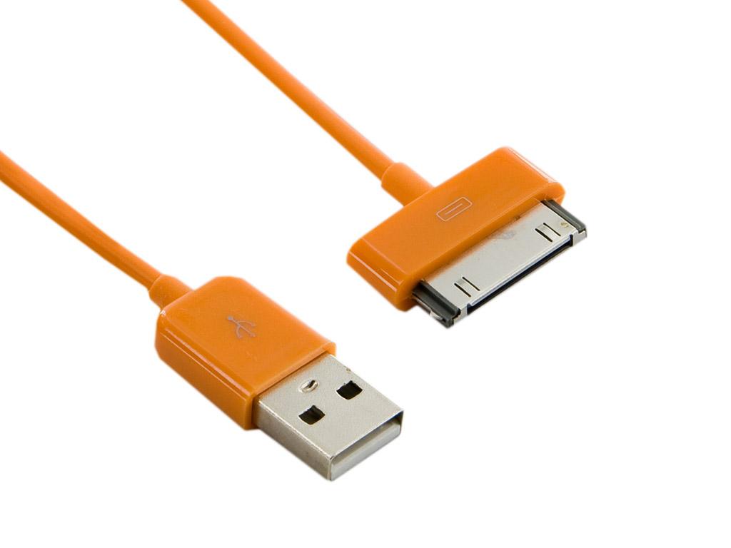 4World Kabel USB 2.0 pro iPad / iPhone / iPod přenos dat/nabíjení 1.0m oranžový