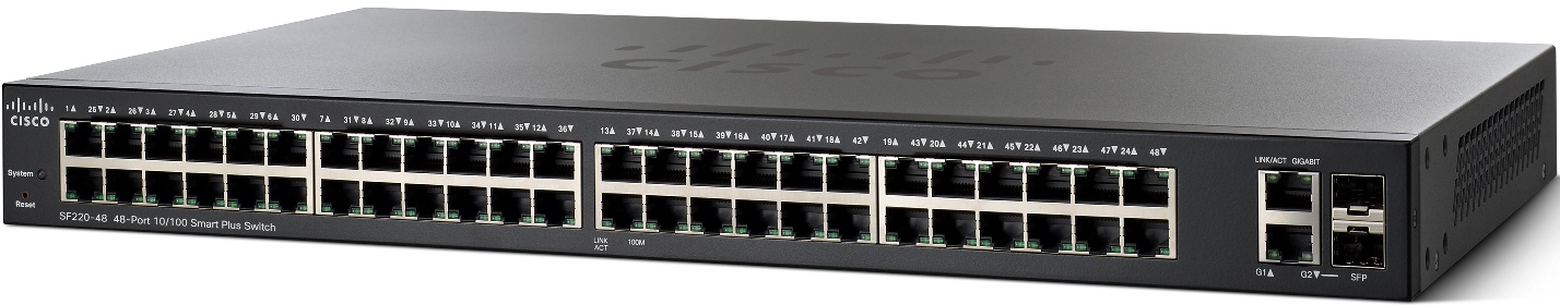 Cisco SF220-48-K9-EU 48x10/100 Smart+ Switch