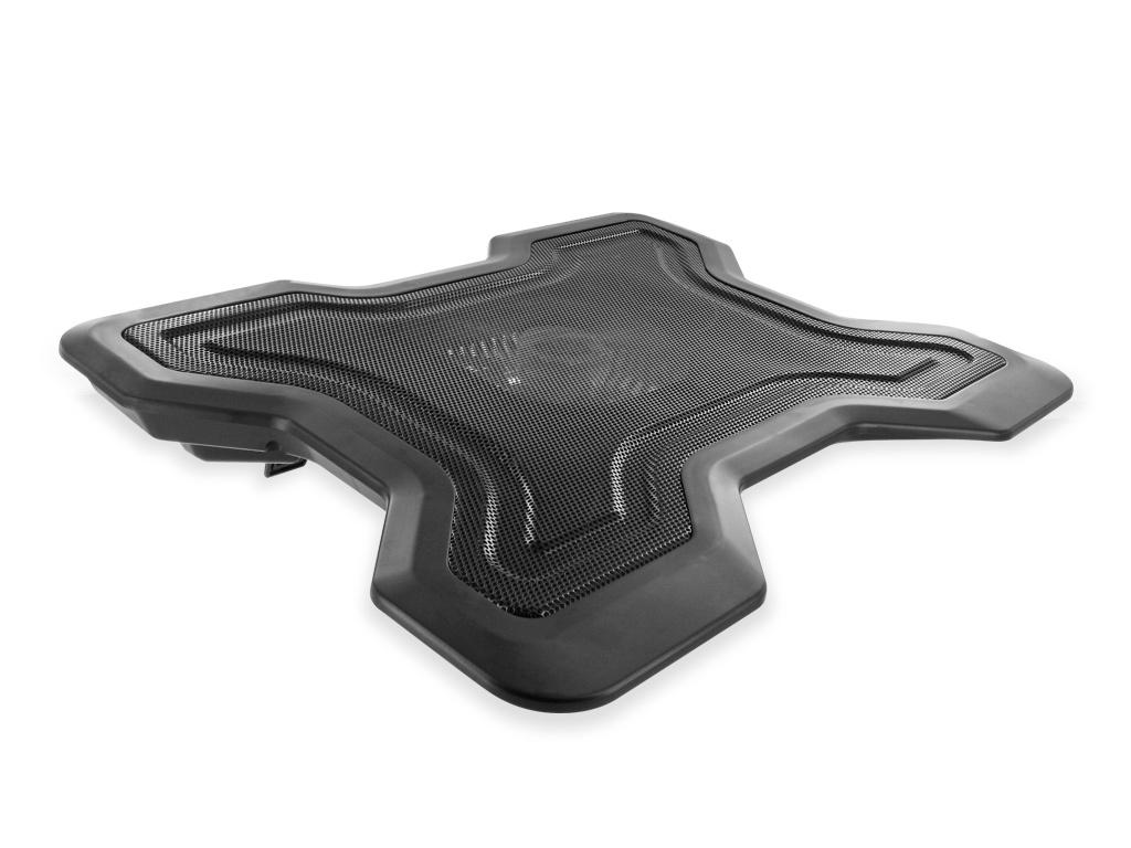 4World Chladicí podložka pro notebooky 13'' - 16'', 1 ventilátor, RPM ovládání