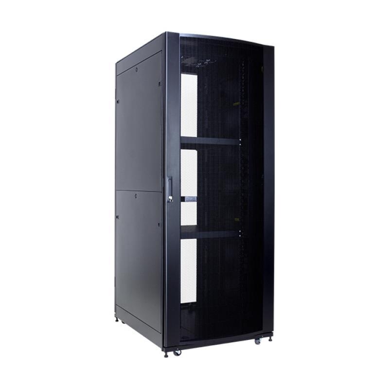 Linkbasic stojící skříně 19'' 42U 800x800mm - černá (perforované přední dveře)