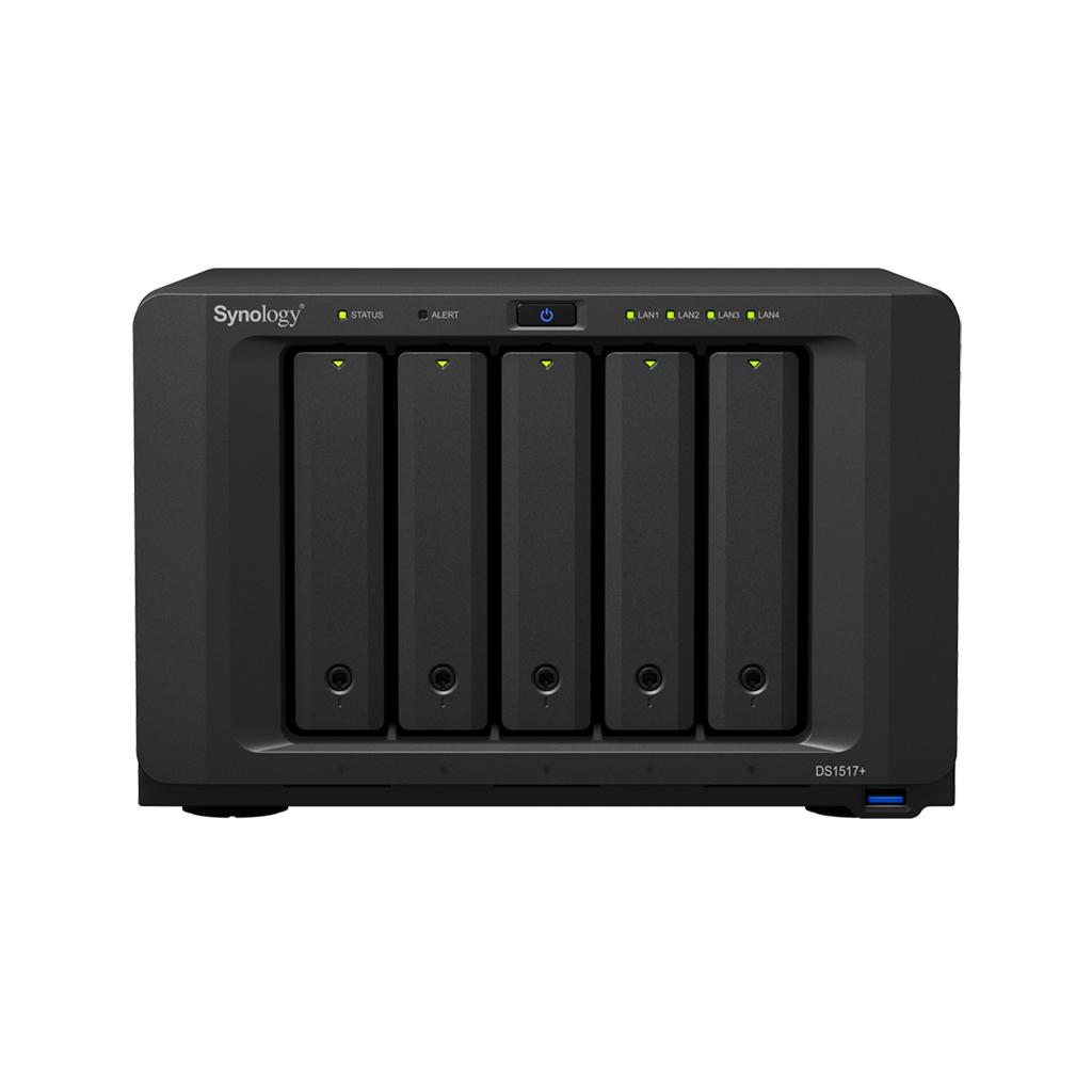 NAS Synology DS1517+ 8GB RAID 5xSATA server, 4xGb LAN