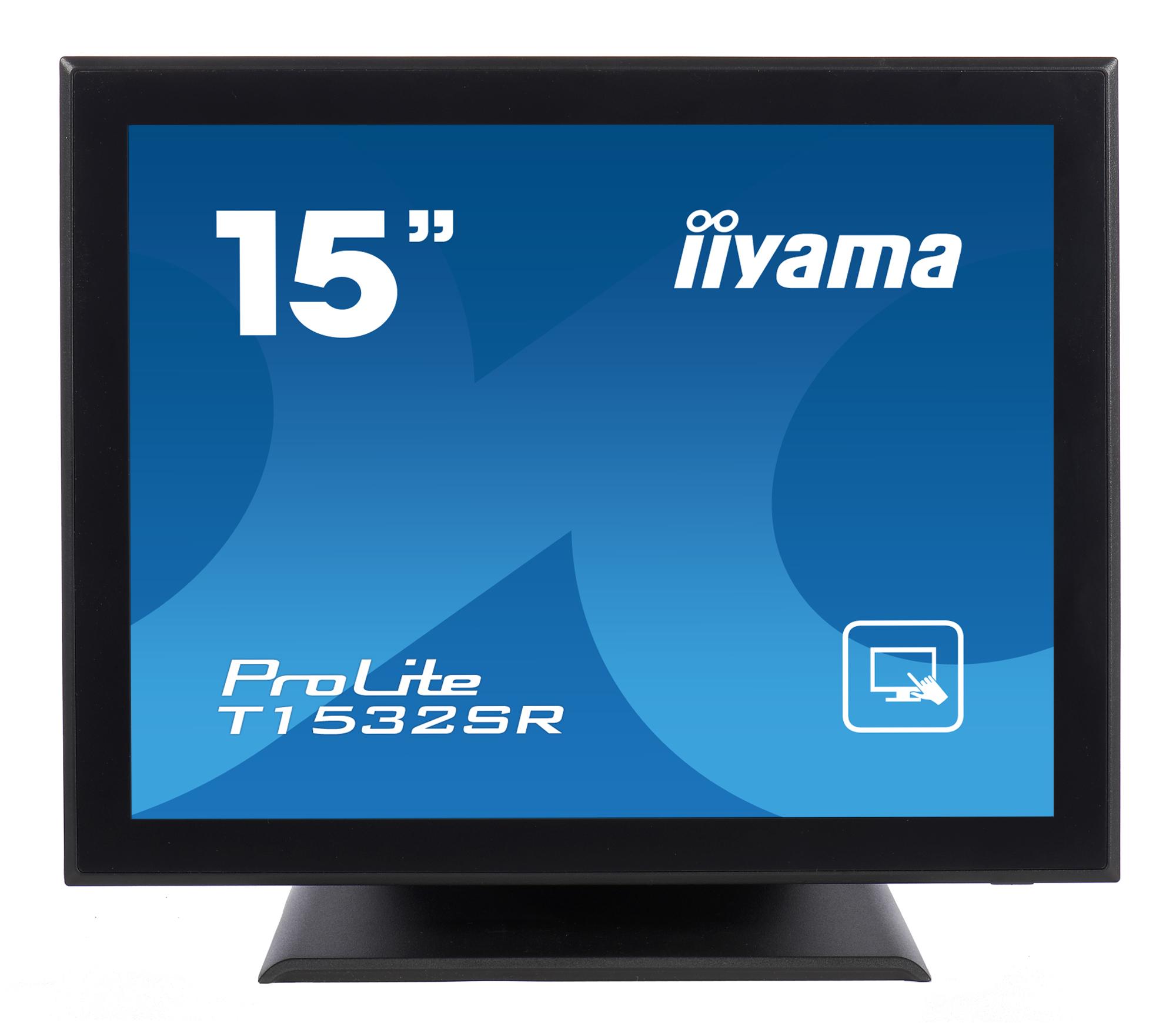 """15"""" LCD iiyama T1532SR-B3 -5 žilový,DVI,USB,RS-232"""