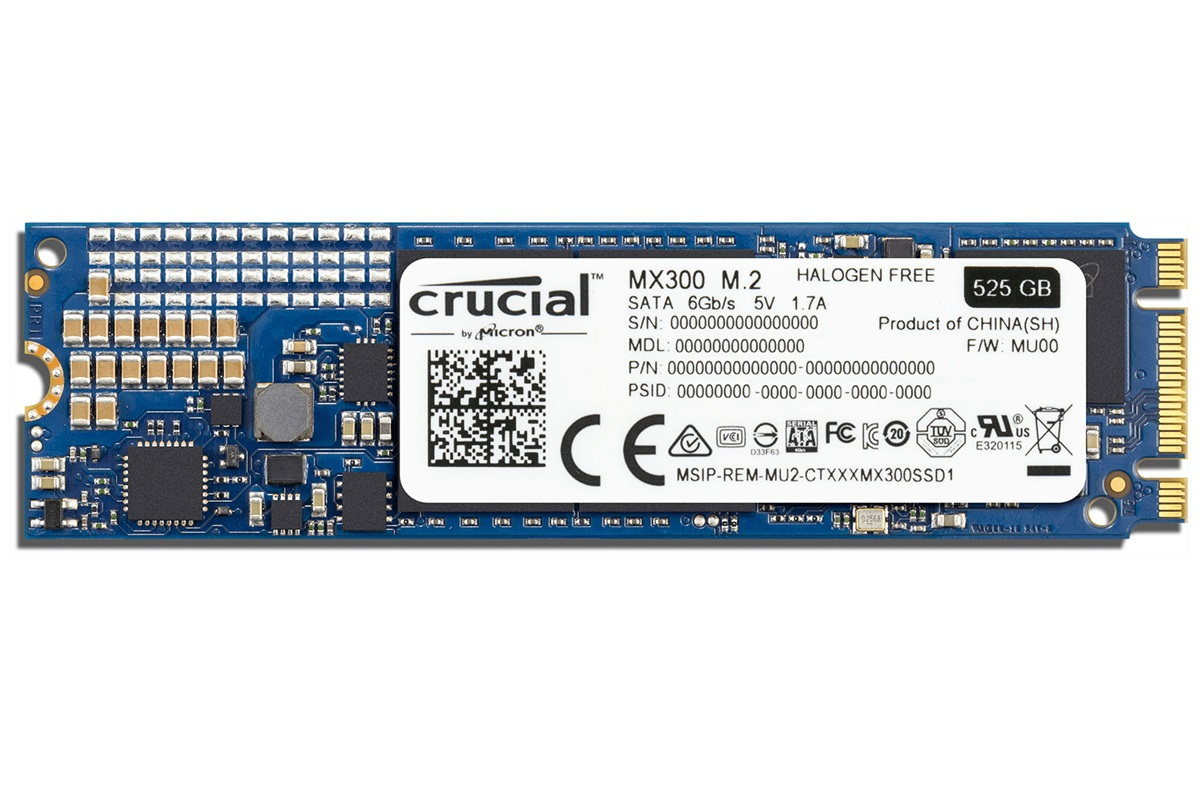 525GB SSD Crucial MX300 M.2 2280SS