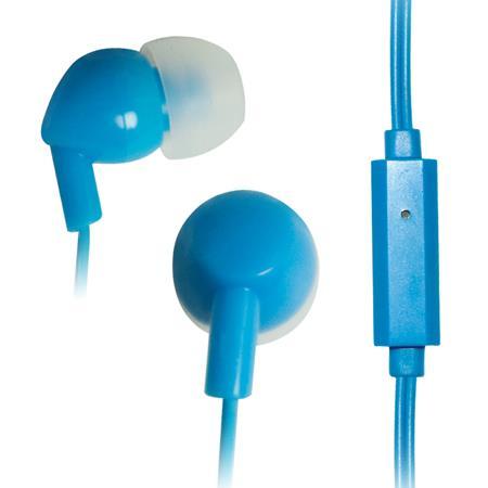VAKOSS Stereofonní sluchátka s mikrofonem, do uší, silikonová SK-211EB modrá
