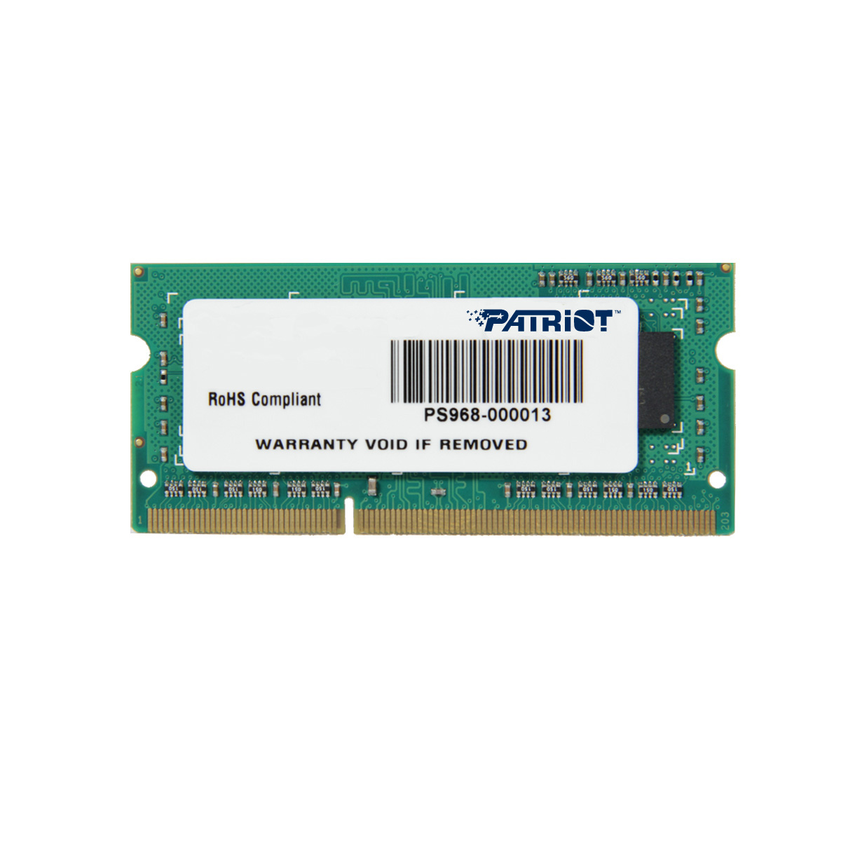 Patriot 4GB SO-DIMM DDR3-1600MHz 1,35V SR