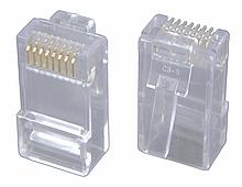 Konektor RJ45 CAT6 UTP 8p8c pro drát,100ks