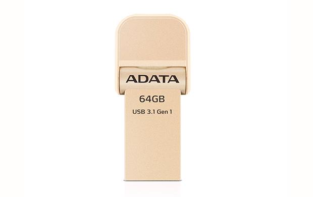 64GB ADATA lightning/USB 3.1 i-Memory zlatá