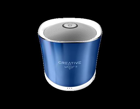 CREATIVE repro WOOF3 crystallite blue (bluetooth modré, jack, USB, SD karta)