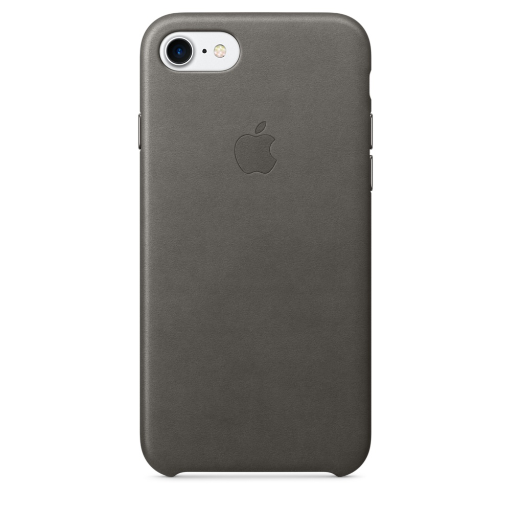 iPhone 7 Leather Case - Storm Gray