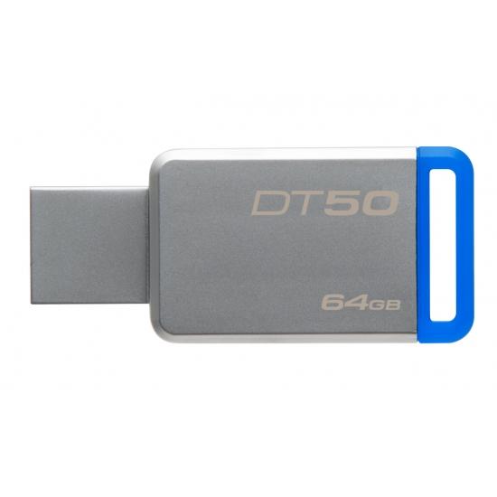 KINGSTON 64GB USB 3.0 DataTraveler 50 (Kovový/Modrý)