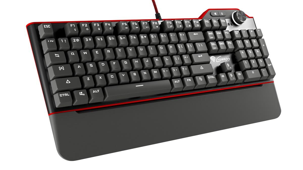 Mechanická klávesnice Genesis RX85, US layout, bílé podsvícení, Kailh Brown switch