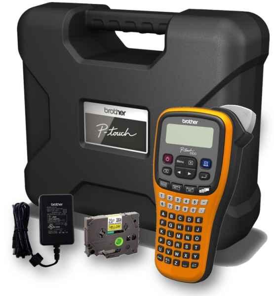 BROTHER tiskárna štítků PT-E100VP - 12mm, pásky TZe, mobilní, Tiskárna Štítků pro průmysl a elektrikáře - popisovač