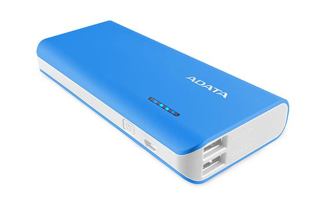 ADATA PT100 Power Bank 10000mAh modrá/bílá