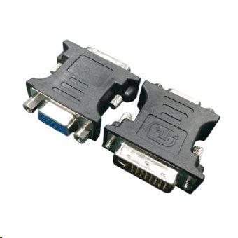 Gembird redukce DVI-A (24pin) male - VGA HD (15pin) HD female černá