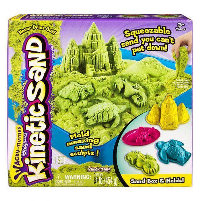 Spin Master Kinetic Sand - uderwater world + moulds 454g green