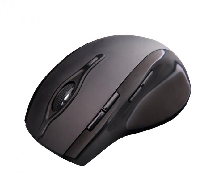 C-TECH myš WLM-11, černá, bezdrátová, 2400DPI, 8 tlačítek, programovatelná, USB nano receiver