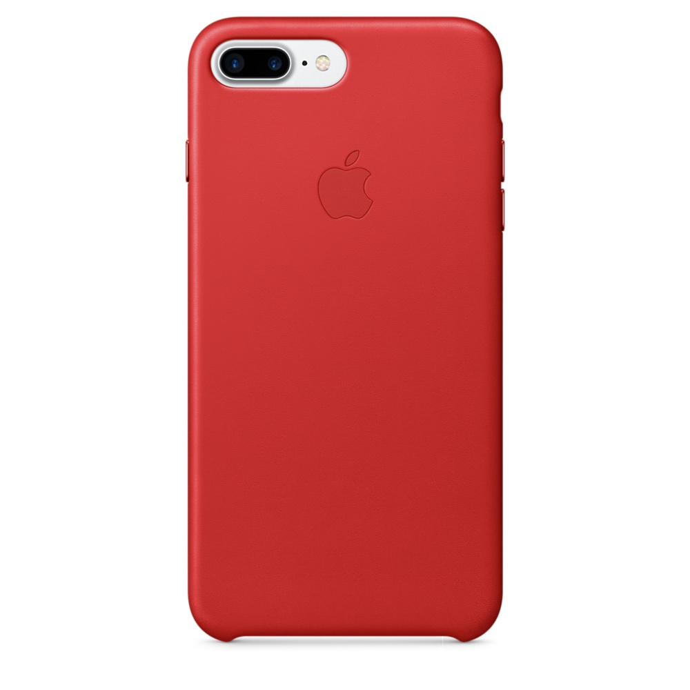 iPhone 7 Plus Leather Case - Red