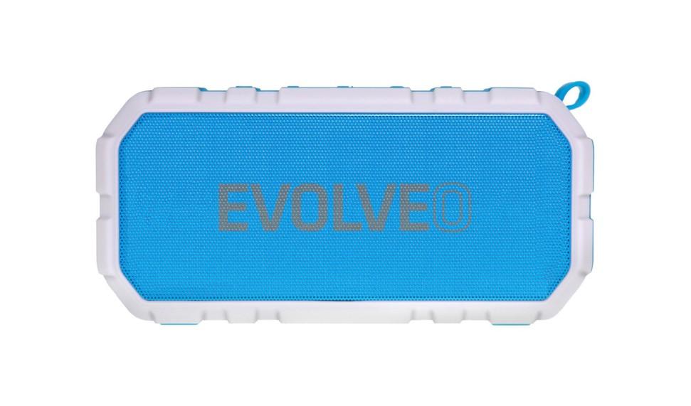 EVOLVEO Armor FX7, outdoorový Bluetooth reproduktor, 10W, FM, MP3 přehrávač, BT 4.2 EDR,microSD, modrý