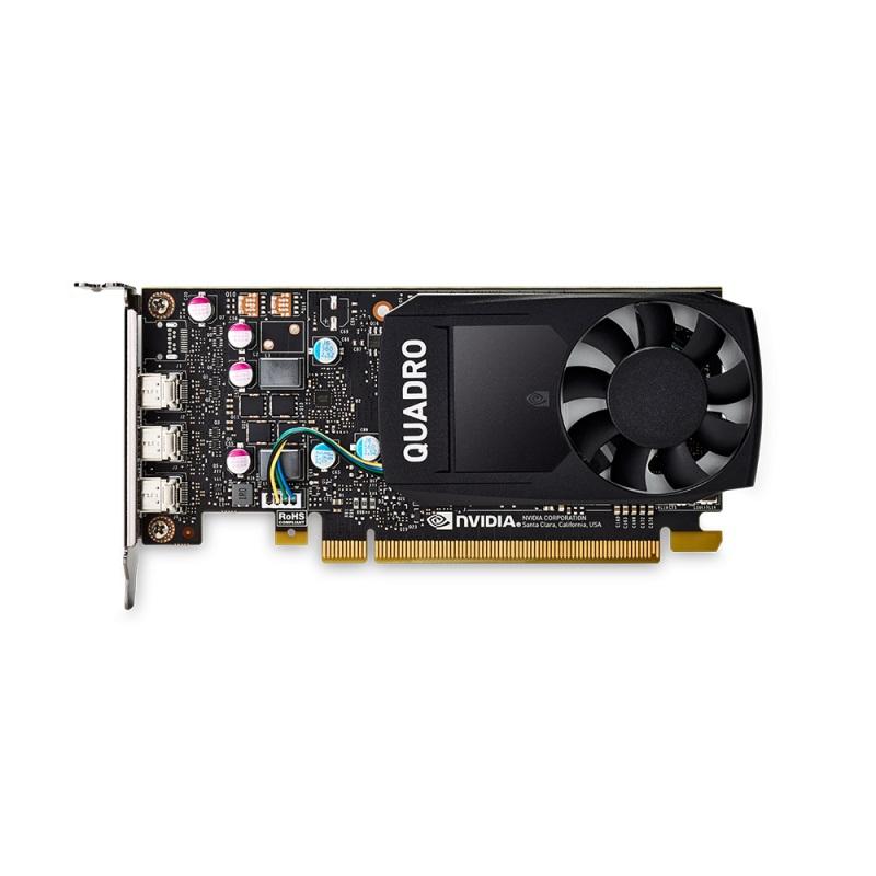 PNY NVIDIA Quadro P400 DVI, 2GB GDDR5 (64 Bit), 3x miniDP (4x mDP to DVI-D), LP