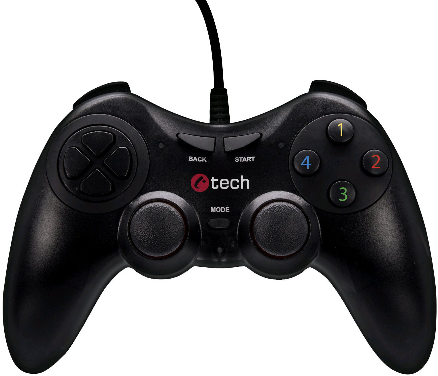 C-TECH Gamepad Riphonus pro PC/PS3, 2x analog, X-input, vibrační, 1,8m kabel, USB