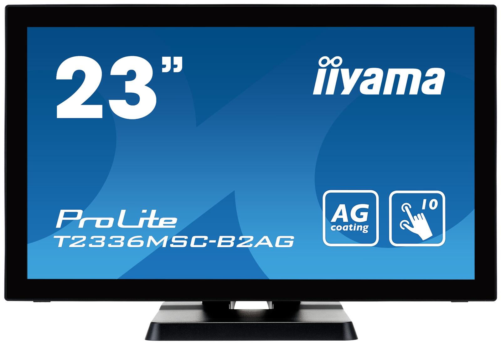 "23"" LCD iiyama T2336MSC-B2AG - multidotekový, FullHD, IPS, kapacitní, USB, antilesklý displej"