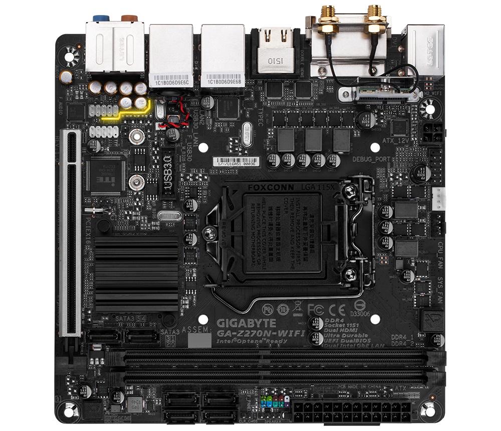 GIGABYTE MB Sc LGA1151 Z270N-WIFI, Intel Z270