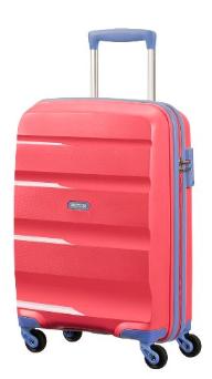 Cabin spinner AT SAMSONITE 85A60001 BonAir Strict S 55 4wheels luggage, pink/blu