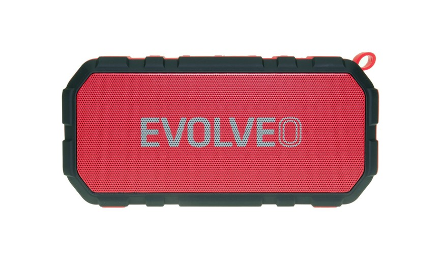 EVOLVEO Armor FX5, outdoorový Bluetooth reproduktor, 10W, FM, MP3 přehrávač, BT 4.2 EDR,microSD,červený