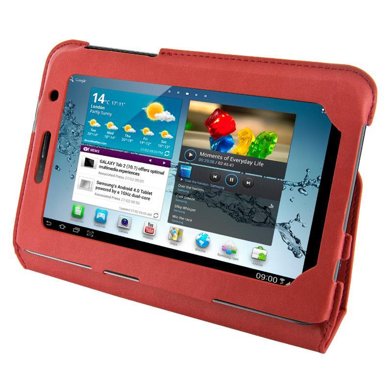 4World Pouzdro - stojan pro Galaxy Tab 2, Ultra Slim, 7'', červený