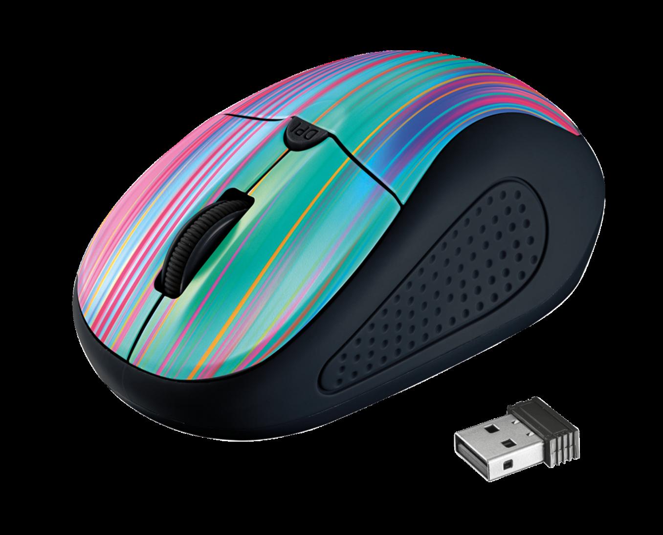 myš TRUST Primo Wireless Mouse - black rainbow