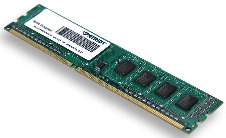 4GB DDR3 1333MHz Patriot CL9 single rank