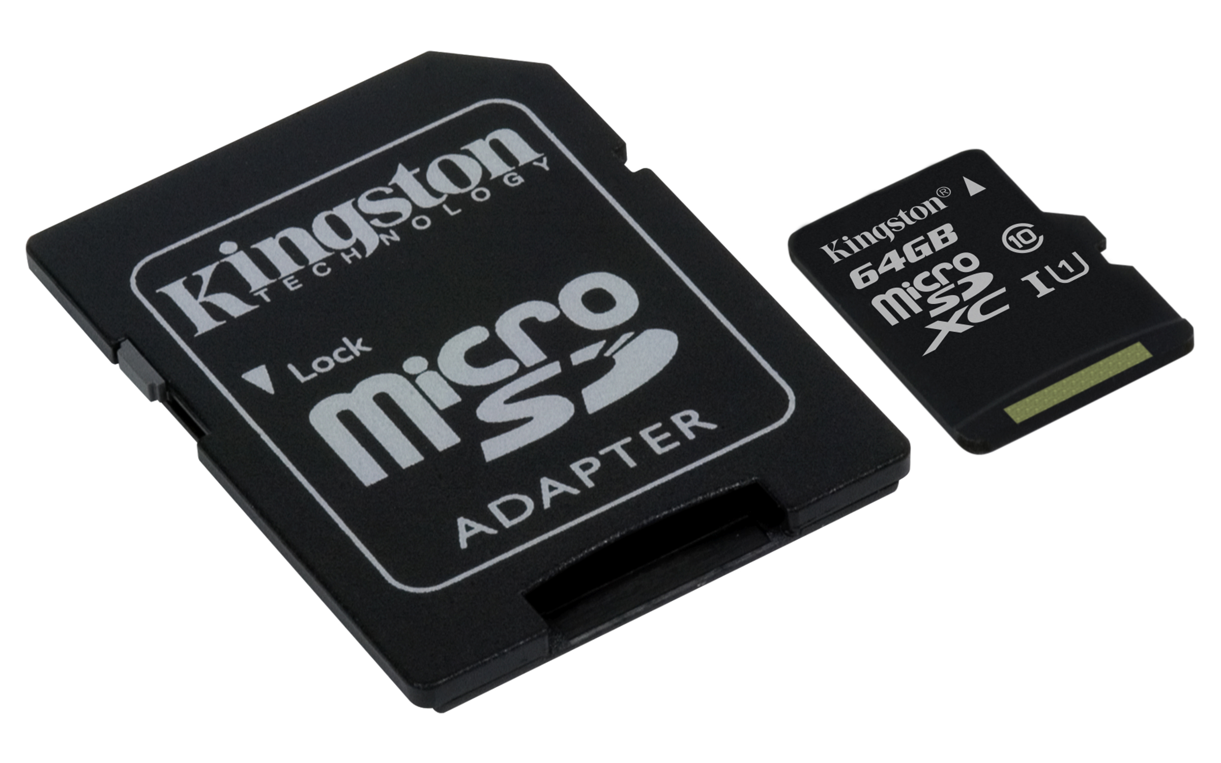 KINGSTON 64GB microSDHC Memory Card 45MB/10MBs- UHS-I class 10 Gen 2