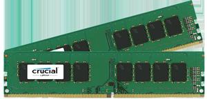 16GB DDR4 - 2400 MHz Crucial CL17 DR x8 DIMM kit, 2x8GB