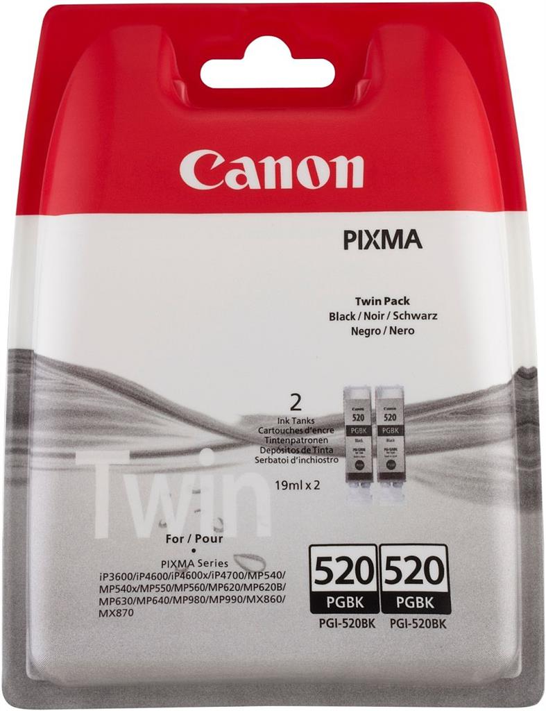 Inkoust Canon PGI520BK černý Twin Pack   IP3600/IP4600
