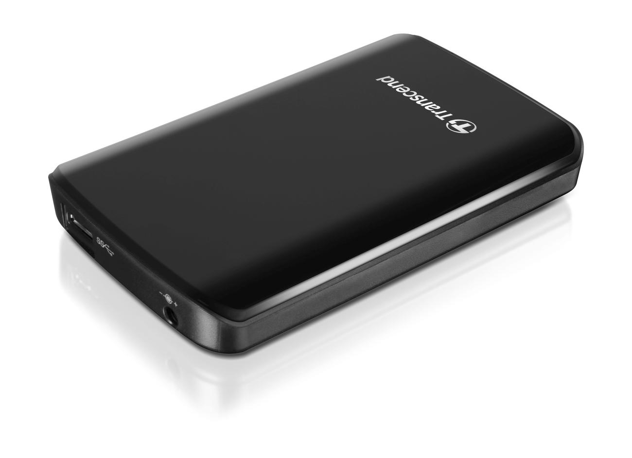 """TRANSCEND 1TB StoreJet 25D3, USB 3.0, 2.5"""" Externí hard disk, černý"""