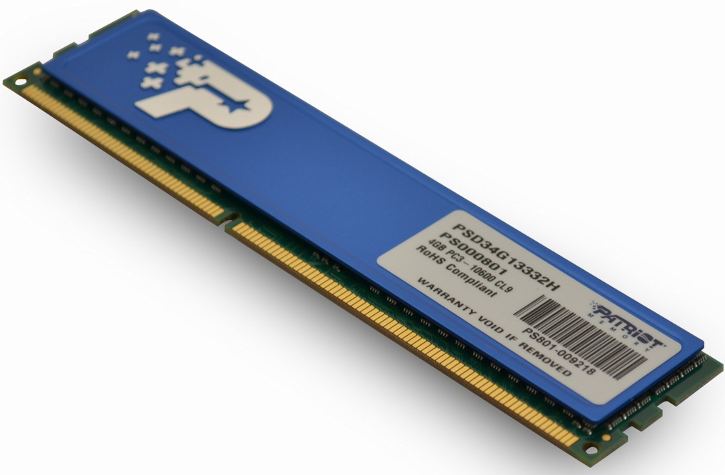 4GB DDR3 1333MHz Patriot CL9 DR s chladičem