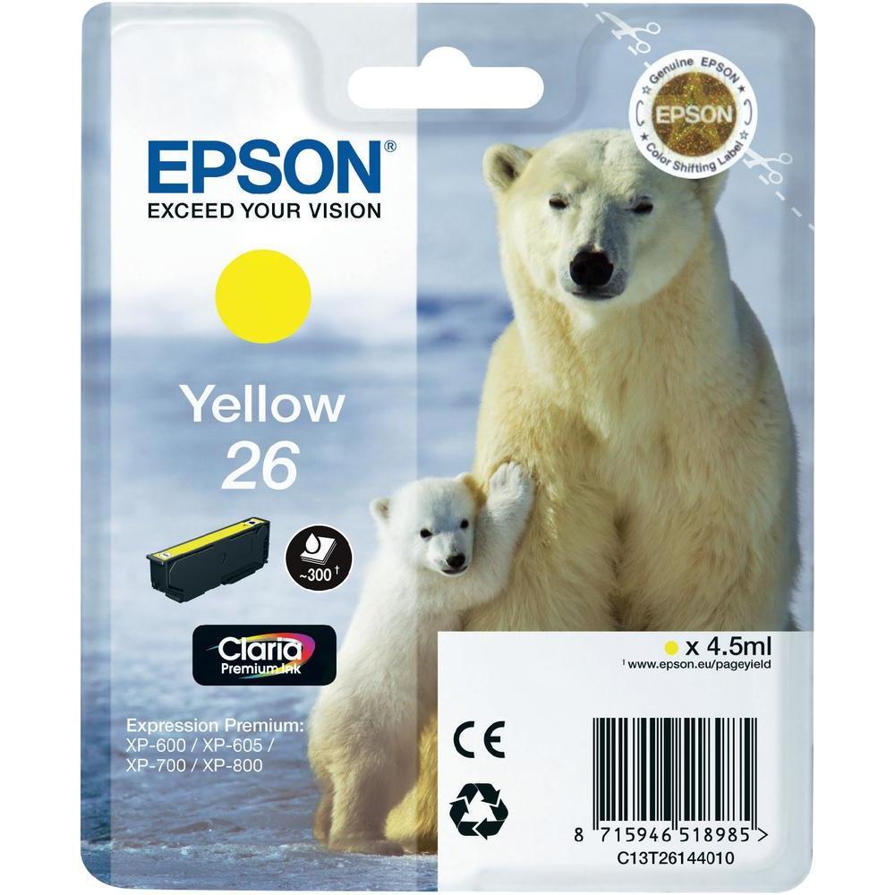 Epson T2614 Singlepack 26 Claria PremiumInk Yellow